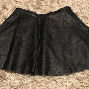 Adorable girls black leather skirt large 10/12